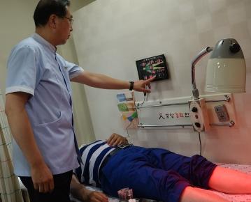 일광온수매트 업체 일광에서 침 시술위치 확인기 개발